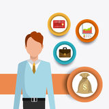 Business, money  and human resources Stock Image