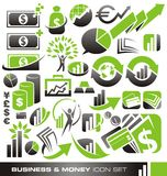 Business and money icon set. And logo design concepts Stock Photos