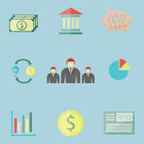 Business money icon. Set of money and business icon, illustration Royalty Free Stock Images