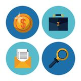 Business and money icons. Icon vector illustration graphic design Royalty Free Stock Photo