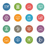 Business & Money Icons Set. Flat Design. Royalty Free Stock Image