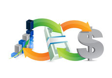Business money making diagram concept Stock Photo