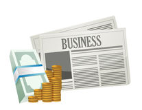 Business money opportunities on the paper. Stock Images