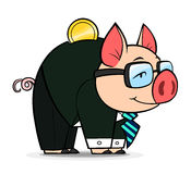 Business money pig Stock Photos