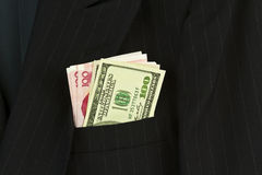 Business Money Suit Royalty Free Stock Photography