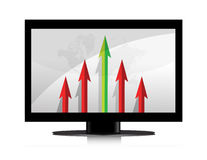 Business monitor graph illustration Royalty Free Stock Photography