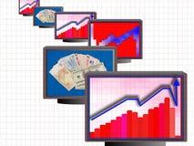 Business monitors 01 Royalty Free Stock Photo