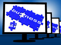 Business On Monitors Shows Corporation Royalty Free Stock Photography