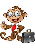 Business Monkey Character - Thumbs Up Stock Photos