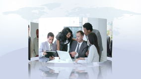 Business montage Royalty Free Stock Photography