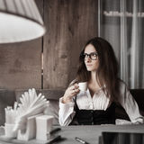 Business mood and coffee Stock Photo