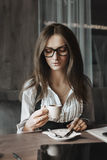 Business mood and coffee Royalty Free Stock Images