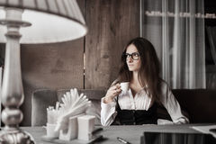 Business mood and coffee Stock Photos
