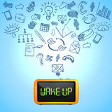 Business Morning Composition royalty free illustration