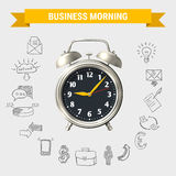 Business Morning Round Composition stock illustration