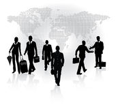 Business in motion. Moving arrival people crowd - Business in motion Royalty Free Stock Images