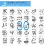 Business motivation, thin line icons set Stock Photography