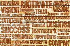 Business motivational word cloud Stock Photo