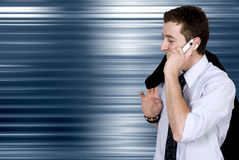 Business on the move - cell phone Royalty Free Stock Photography