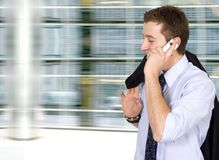 Business on the move - cell phone Royalty Free Stock Photos