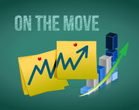 Business in the move concept illustration Royalty Free Stock Photo