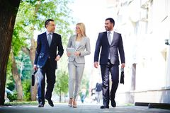 Business on the move Stock Photo