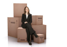 Business moving Royalty Free Stock Photos