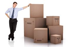 Business moving Royalty Free Stock Photo