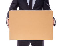 Business moving in office Royalty Free Stock Photos