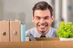 Business moving in office Stock Photo