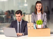 Business moving in office Stock Photography