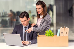 Business moving in office Stock Photos