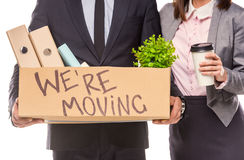 Business moving in office Stock Images