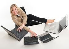 Business multitasking Stock Photo