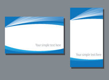 Business Name card template. S, blue and white design royalty free illustration