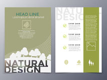 Business and nature brochure design template vector Royalty Free Stock Image