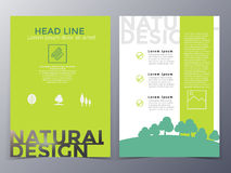 Business and nature brochure design template vector Royalty Free Stock Images