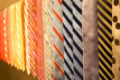 Business neckties. Ties: Collection of formal neck ties in a plentiful color palette stock photography