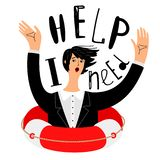Business need help concept stock illustration