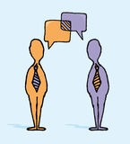 Business negotiation / Businessmen dialog Stock Photo