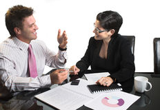 Business negotiation - isolated Royalty Free Stock Image