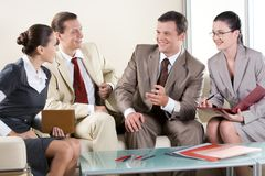 Business negotiations Stock Images
