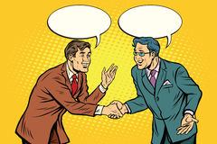 Business negotiations businesspeople shaking hands vector illustration