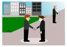 Business negotiations, cartoon concept Royalty Free Stock Photos