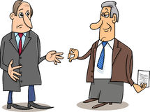 Business negotiations cartoon Royalty Free Stock Image