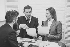 Business partners, businessmen at meeting, office background. Business negotiations concept. Business negotiations. Business negotiations concept. Business Stock Image