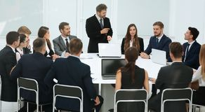 Business negotiations at the round table Royalty Free Stock Image