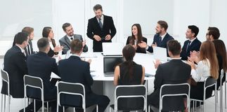 Business negotiations at the round table Stock Image