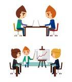 Business negotiations set Stock Photo