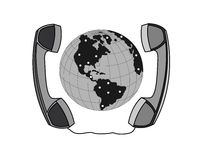 Business negotiations telephone communication. Stock Photos